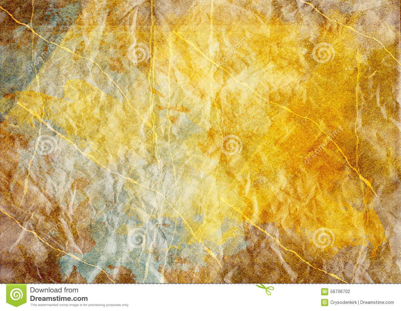 Gold and Blue Parchment Paper Texture Background