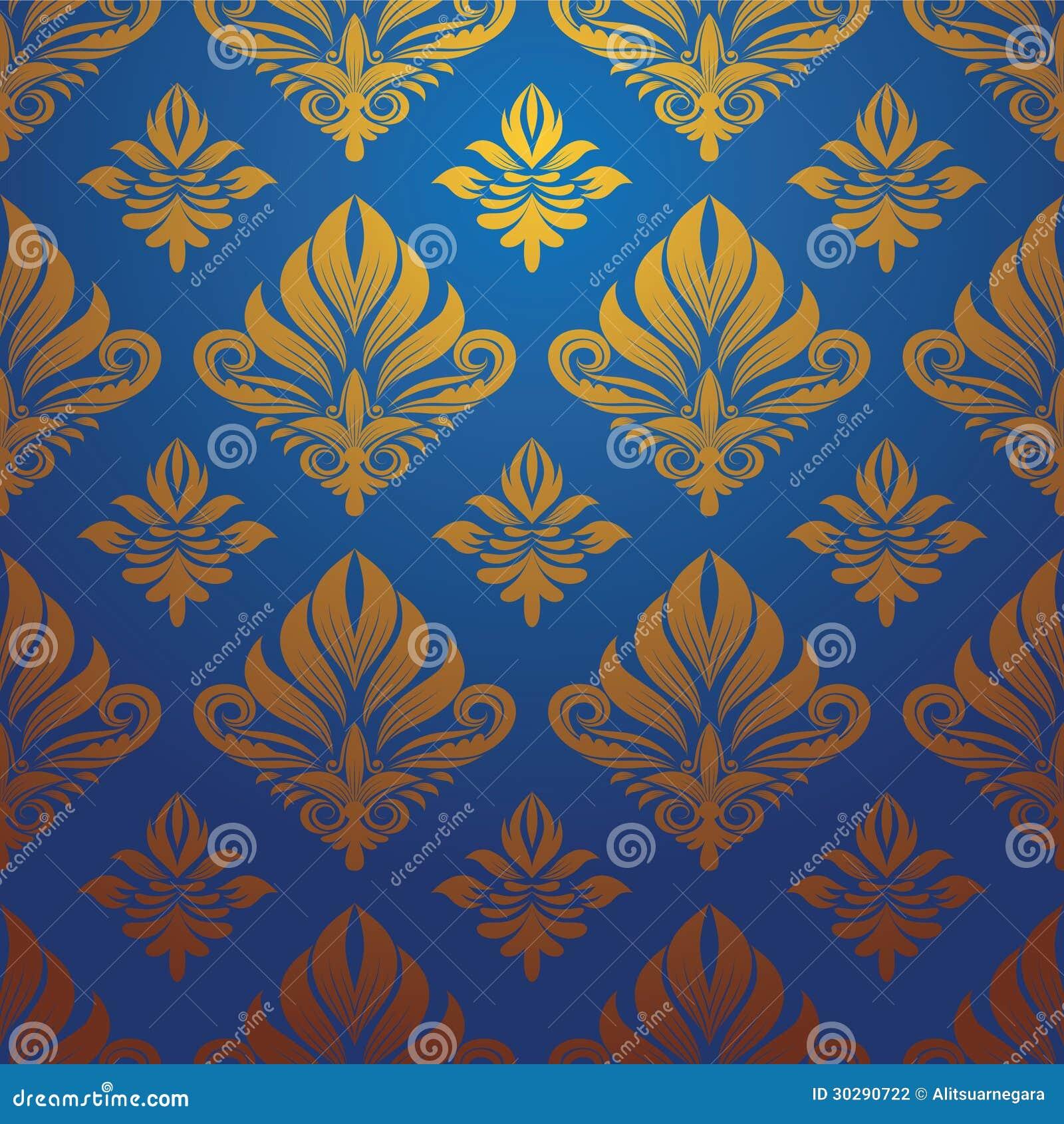gold blue pattern vector stock vector illustration of illustrations