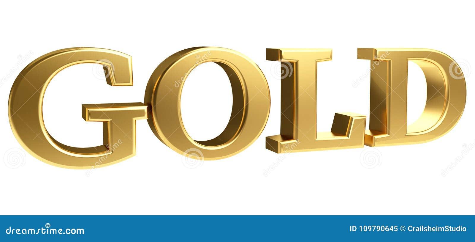 gold bold letters 3d rendering stock illustration illustration of
