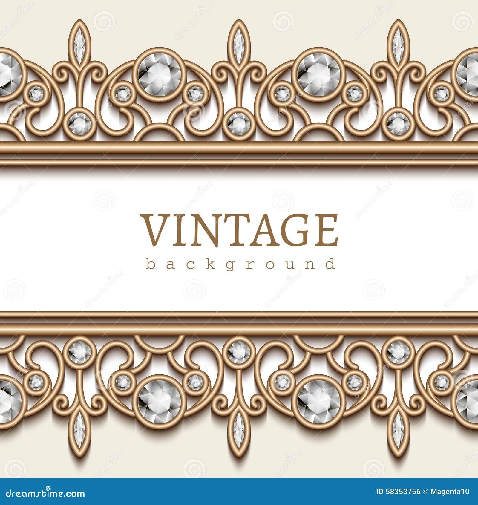 Gold Border Frame On White Illustration 58353756 Megapixl