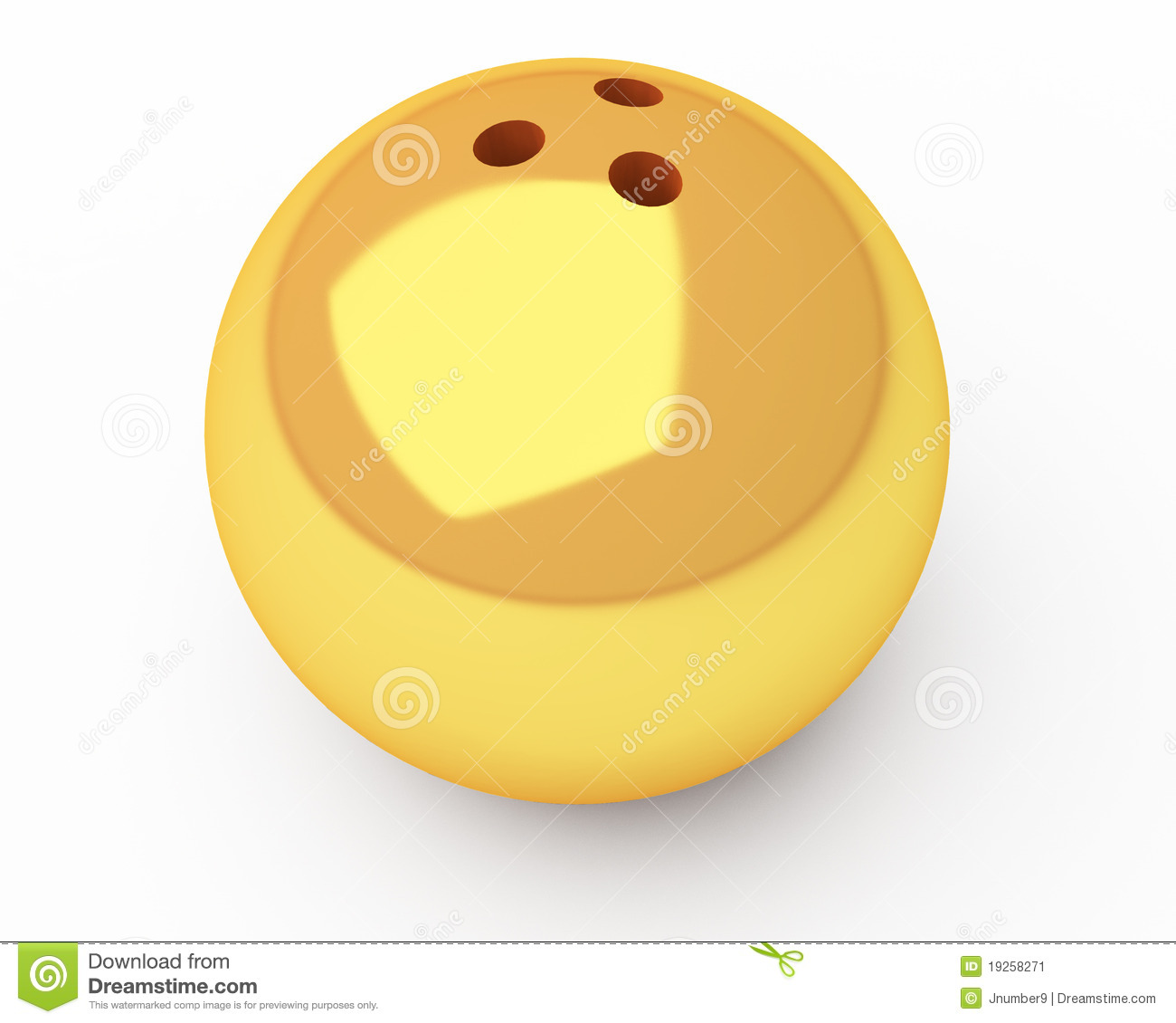 Gold Bowling Ball Stock Image - Image: 19258271