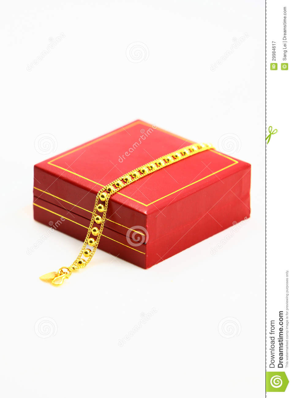 Gold Bracelet and gifts box