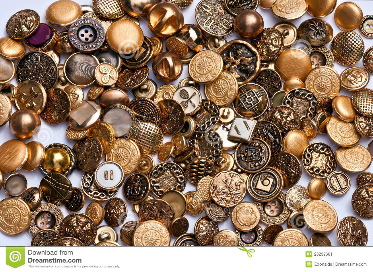 Gold and Brass Buttons