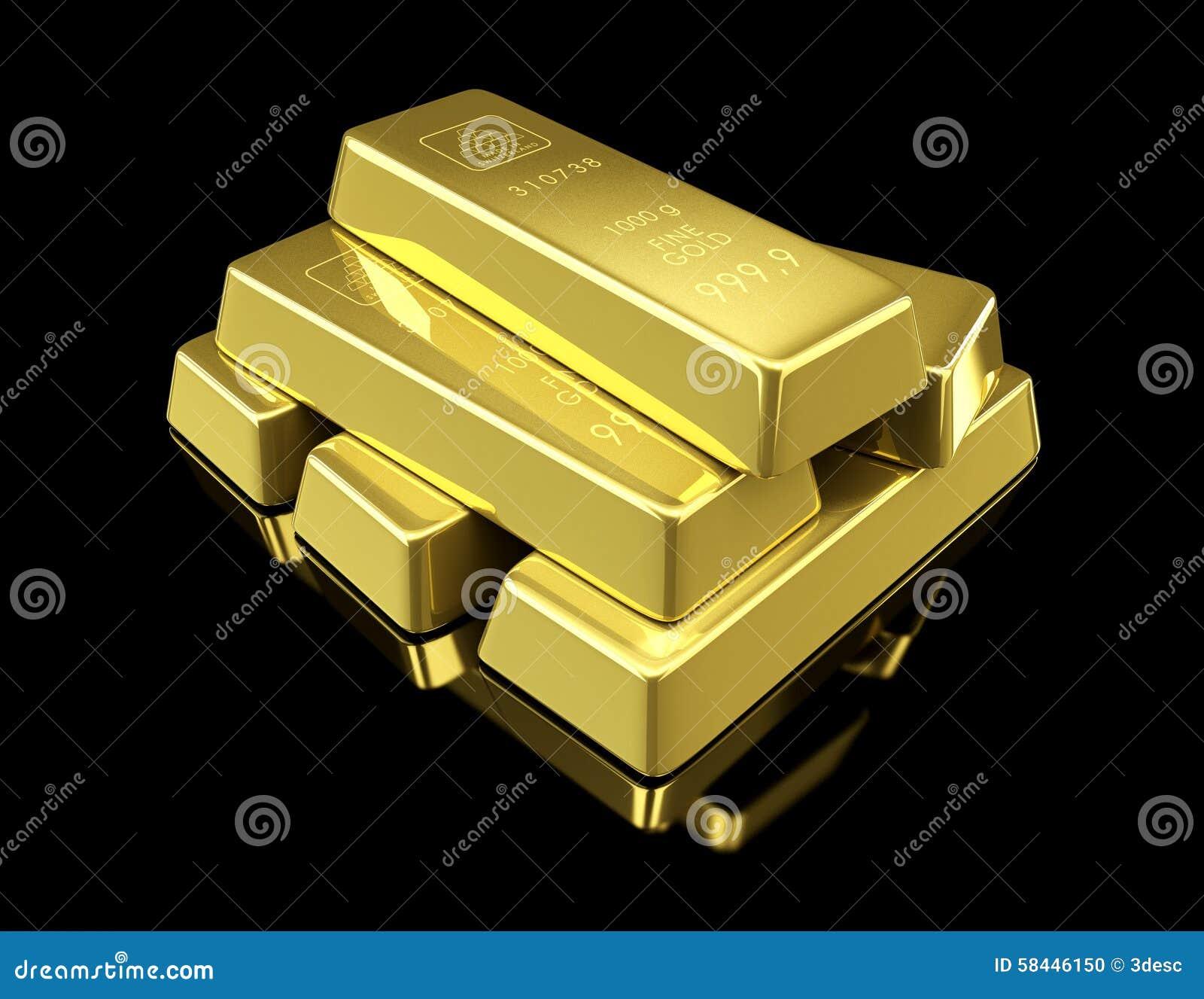 gold bar black background - photo #14