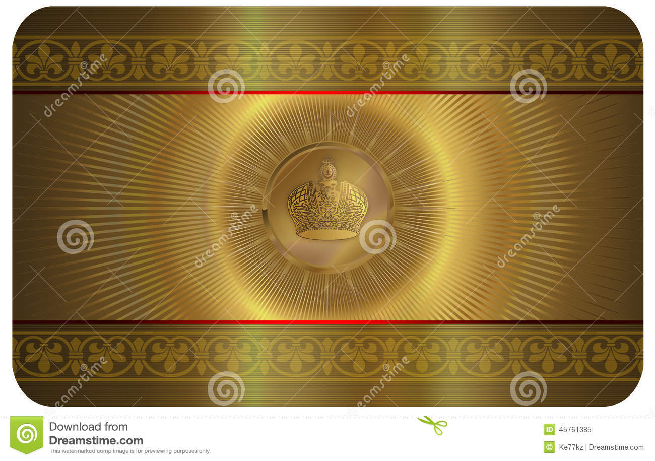 Gold Business Card Stock Illustration Image