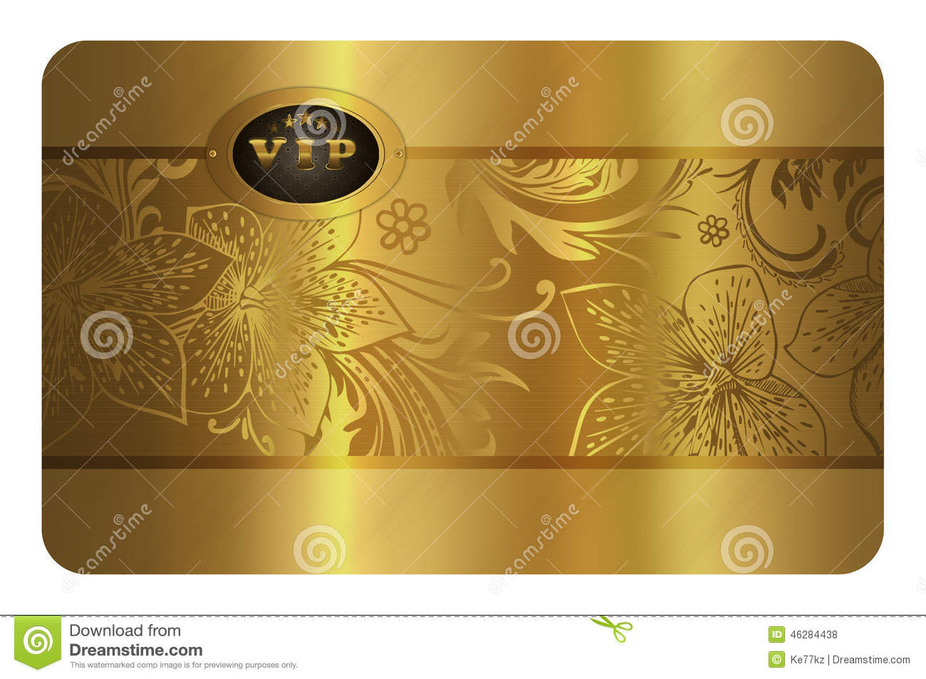Gold Business Card Template Stock Illustration