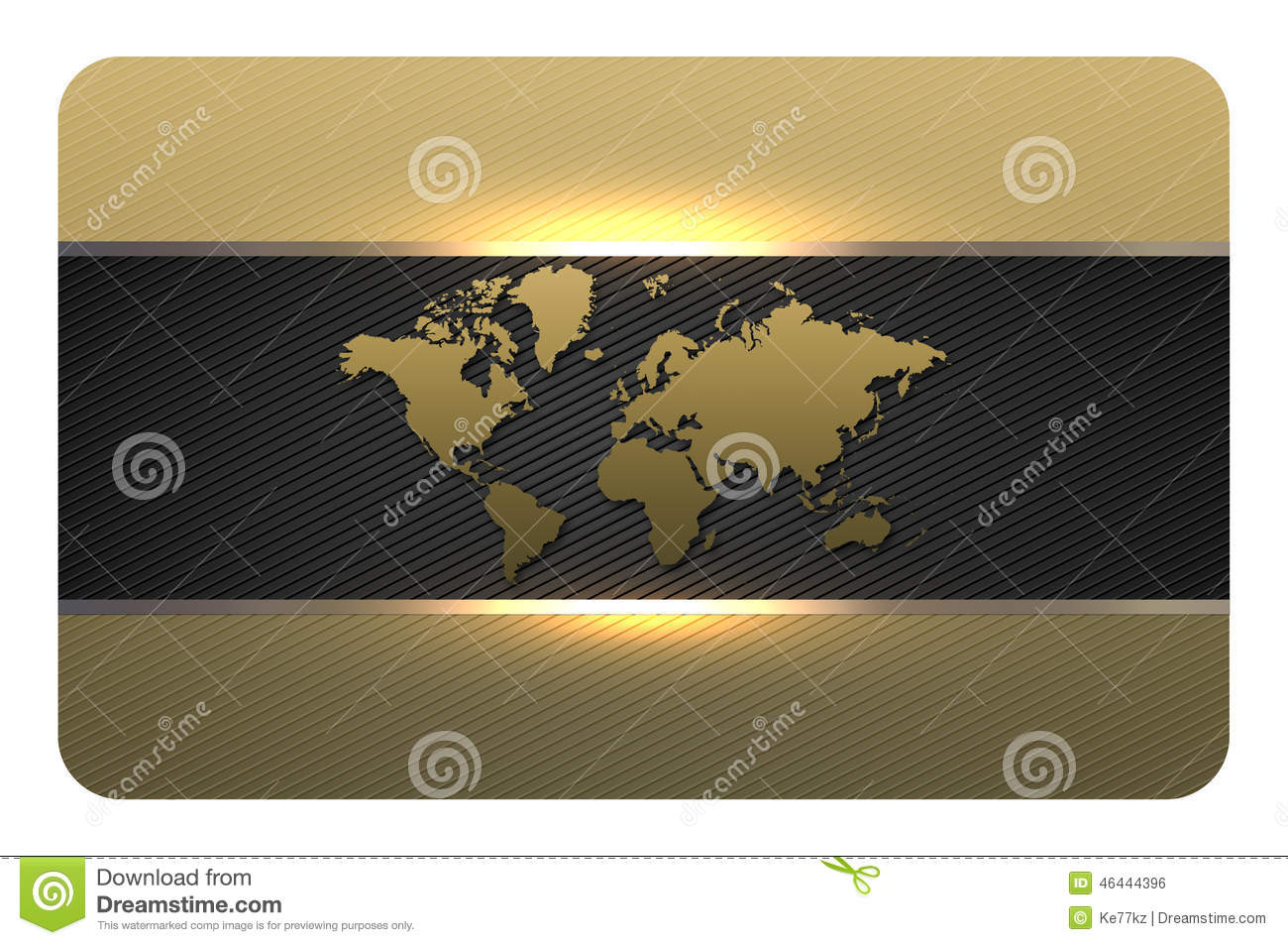 Gold Business Card Template. Stock Illustration - Illustration of ...