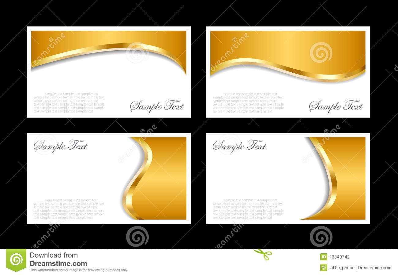 Gold business cards templates stock vector illustration of card gold business cards templates wajeb Image collections