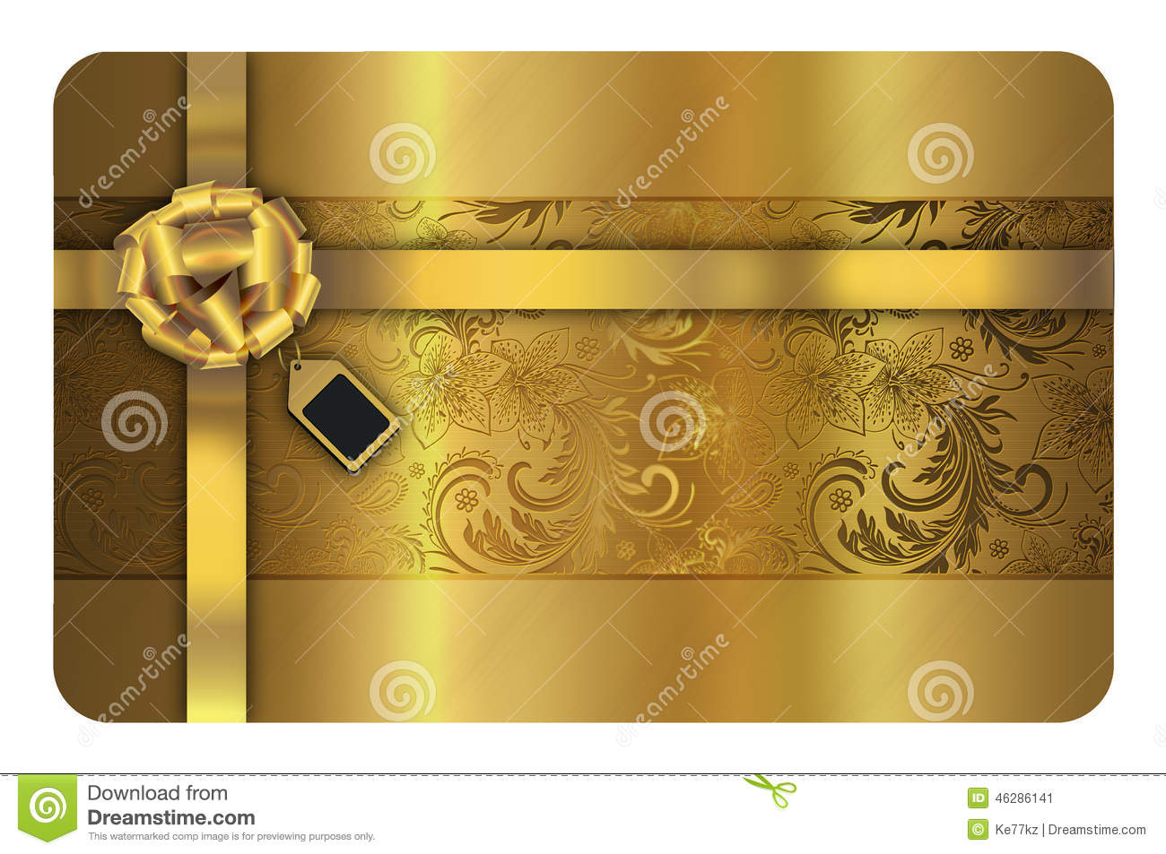 Gold Business Or Gift Card Template. Stock Illustration ...