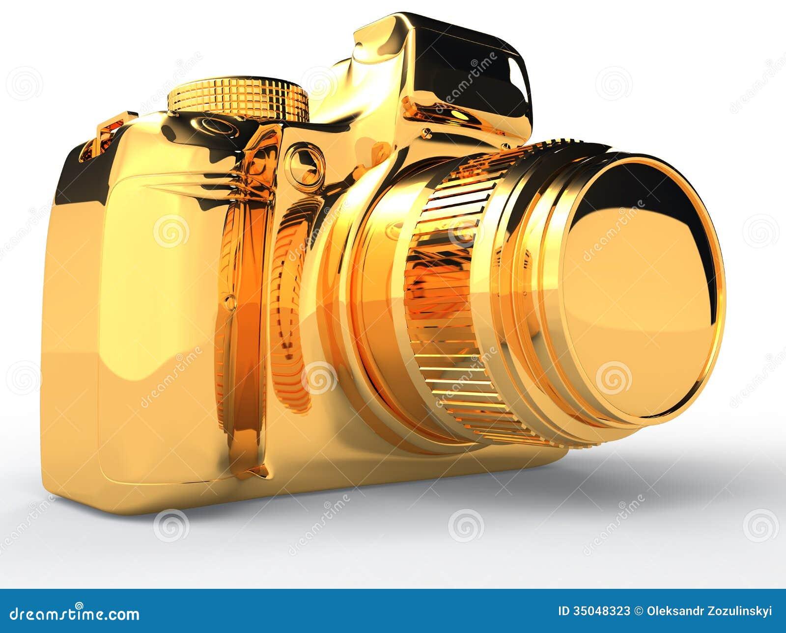 Gold Camera 4 Stock Photos