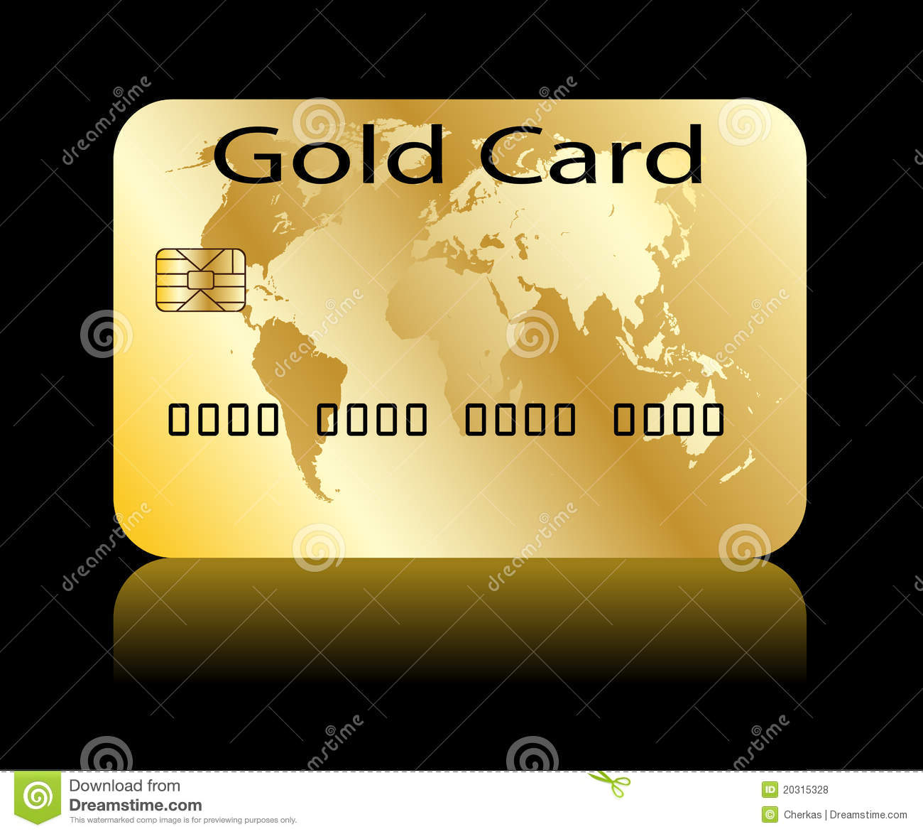 Gold Card Royalty Free Stock Photos Image 20315328