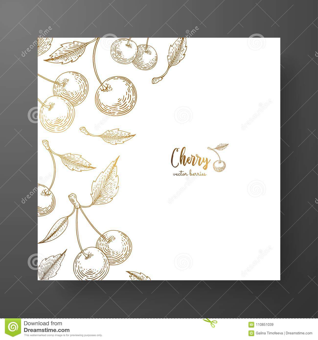 Gold Card Template For Invitations Greeting Cards Postcards Package Design Or As