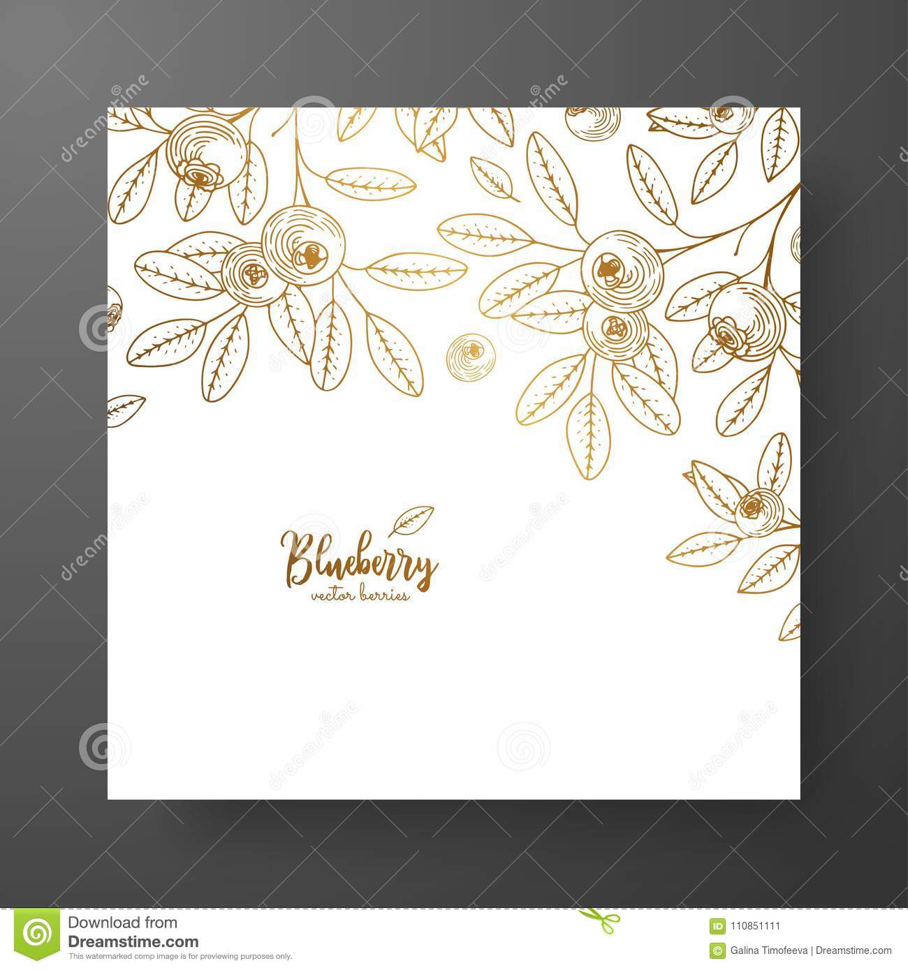 Gold Card Template For Invitations, Greeting Cards, Postcards ...
