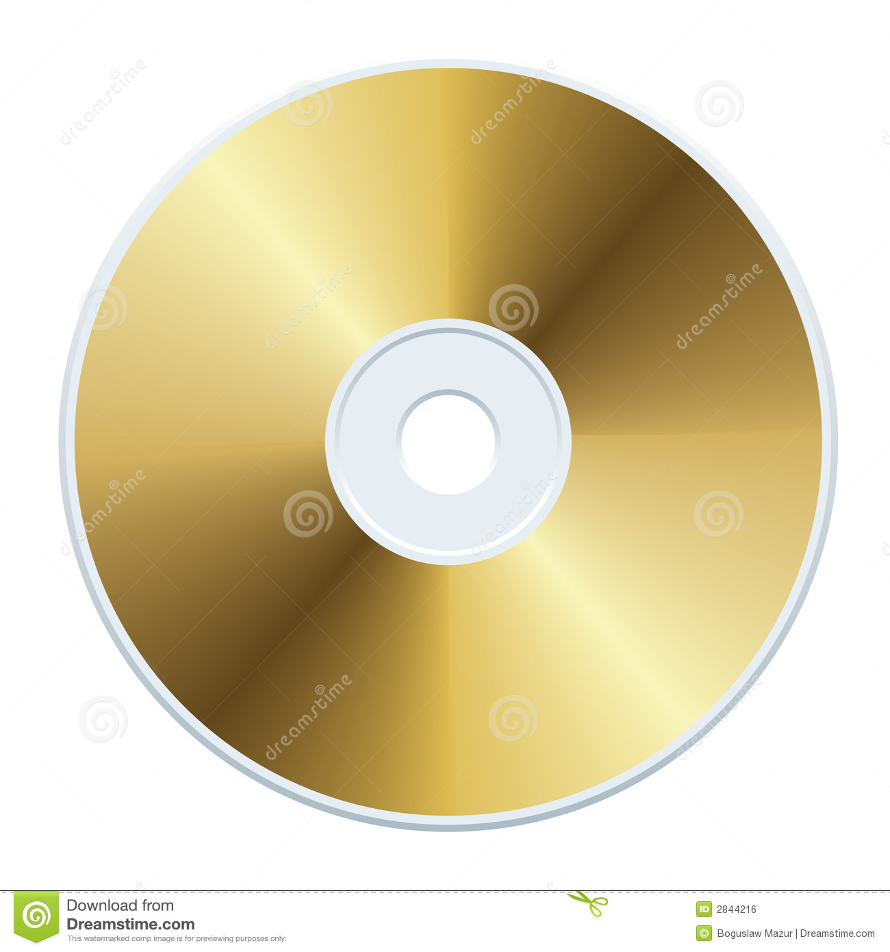 Gold Cd Royalty Free Stock Image Image 2844216