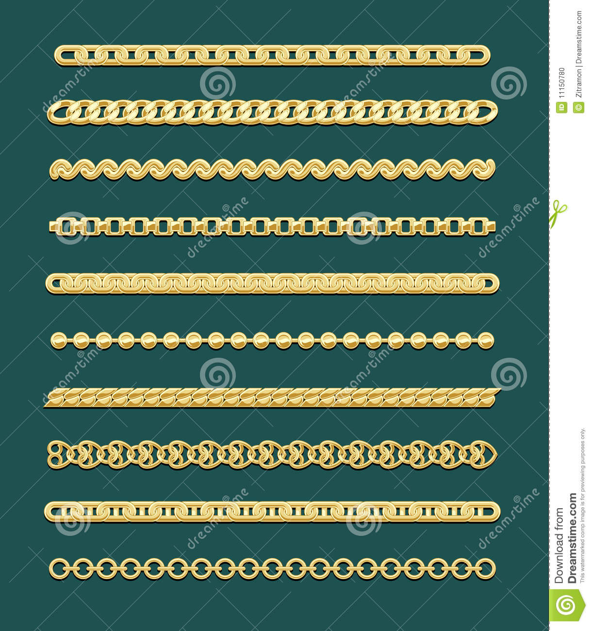 Gold Chain Designs stock vector Illustration of design 11150780