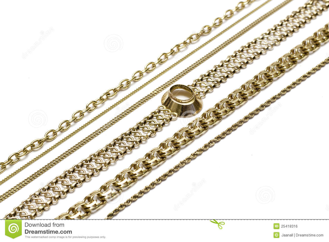 Gold Chains Royalty Free Stock Image Image 25418316
