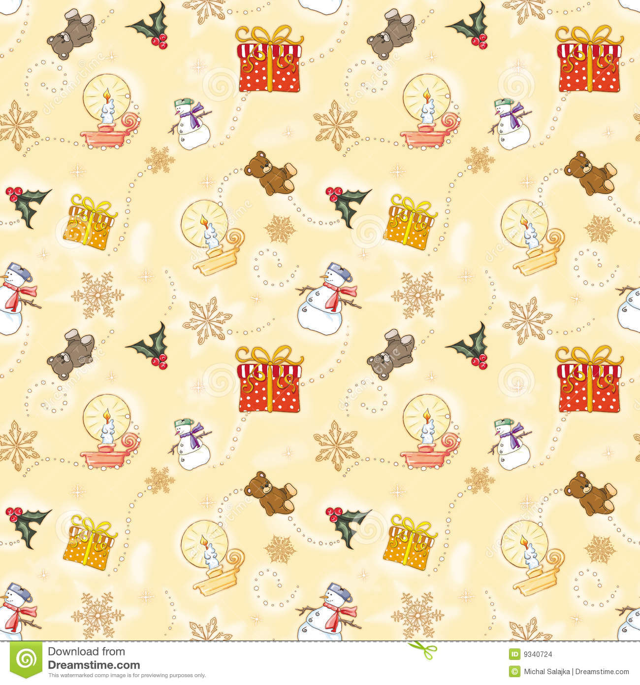 Gold child christmas wrapping paper stock images image - Papier peint vintage enfant ...