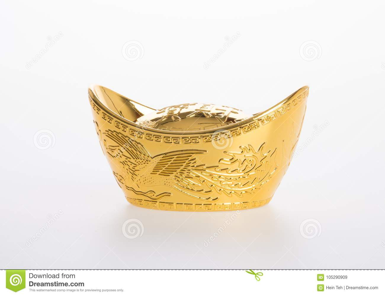 Gold Or Chinese Gold Ingot Mean Symbols Of Wealth And Prosperity