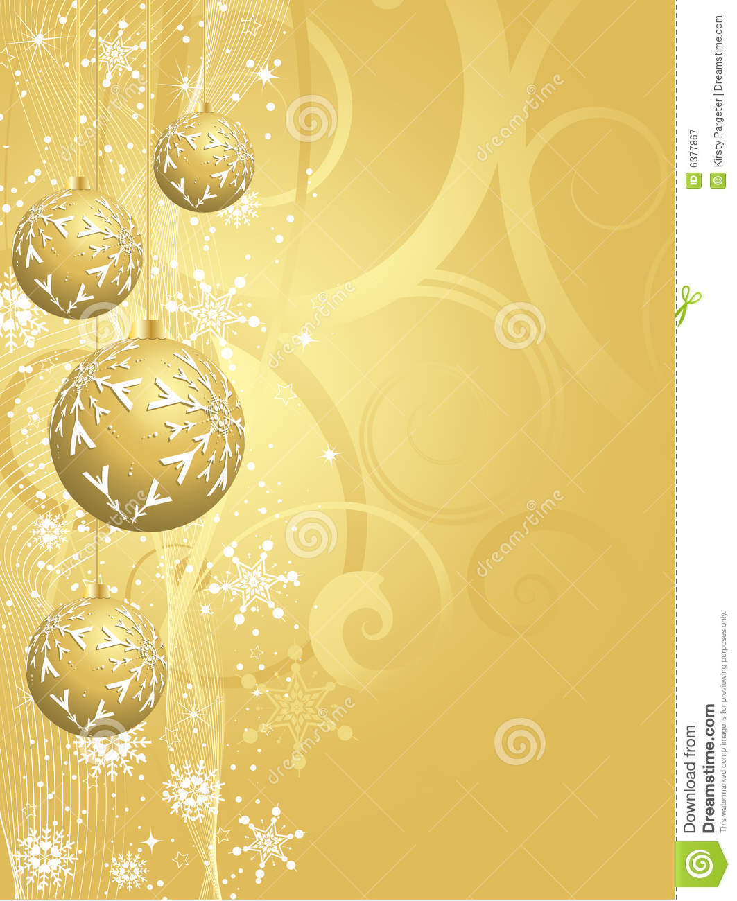gold christmas background stock vector. illustration of season - 6377867
