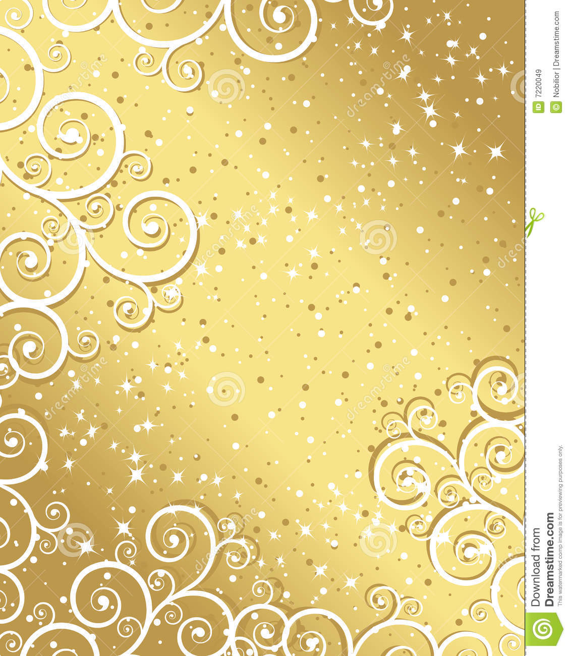 Gold Christmas Background Royalty Free Stock Images - Image: 7220049