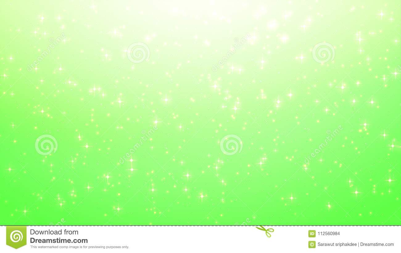 Gold christmas background, star glow on green background with bo