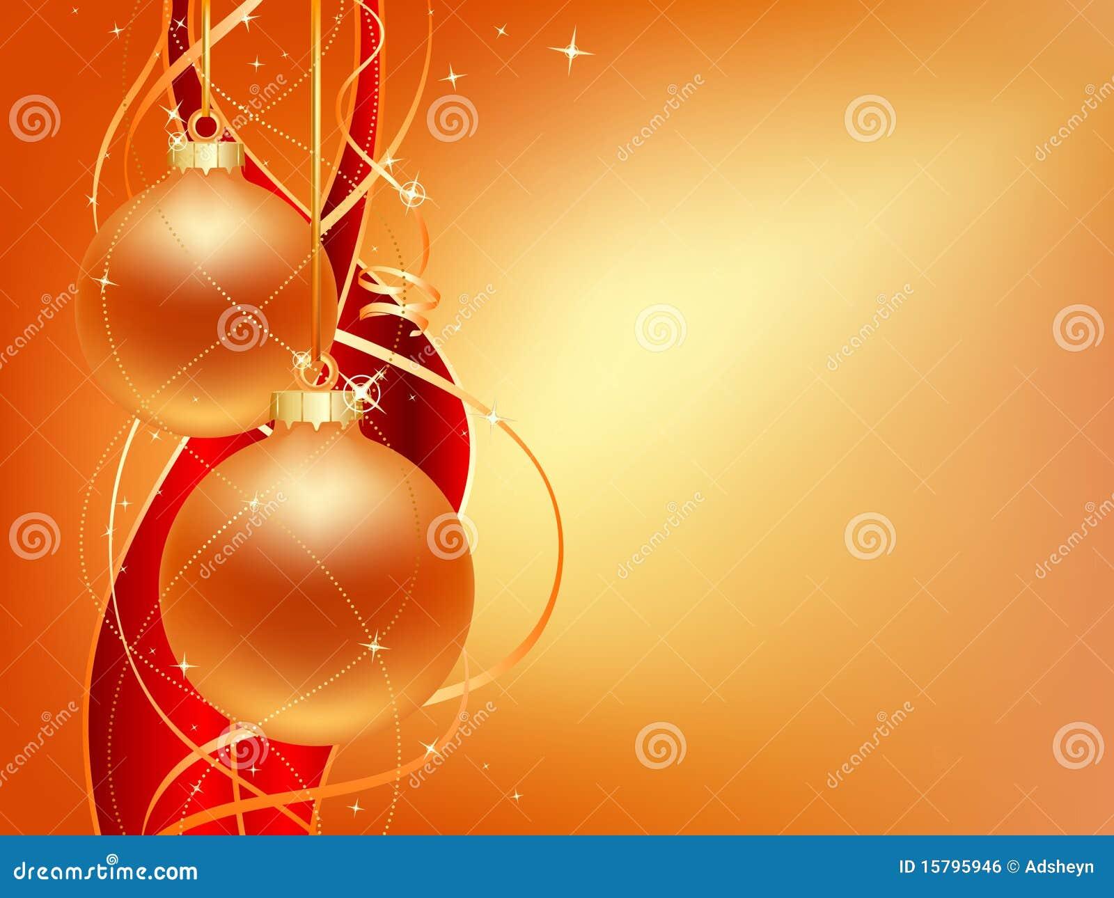 Gold Christmas Card Royalty Free Stock Image - Image: 15795946