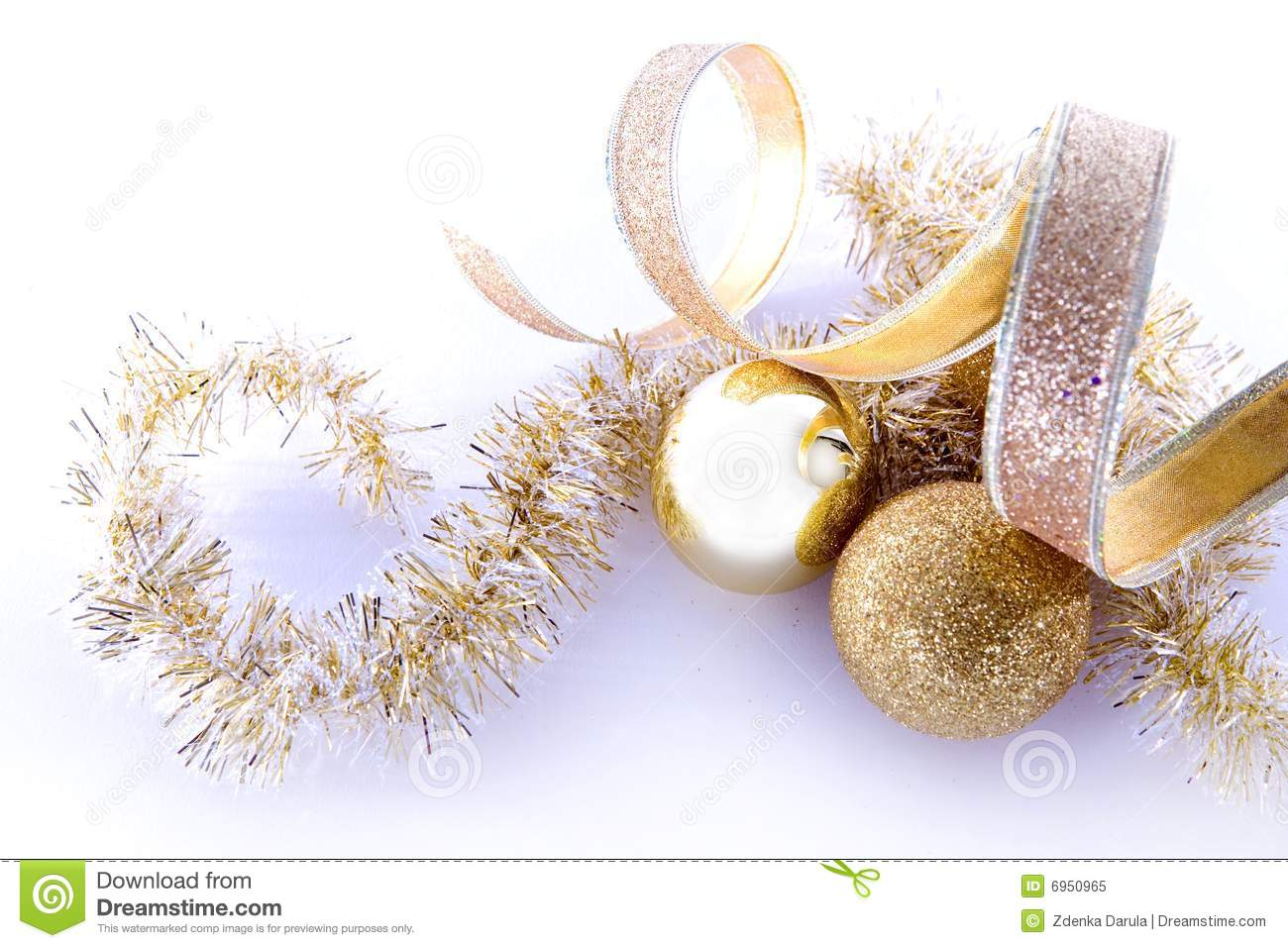download gold christmas decorations stock image image of ornaments 6950965