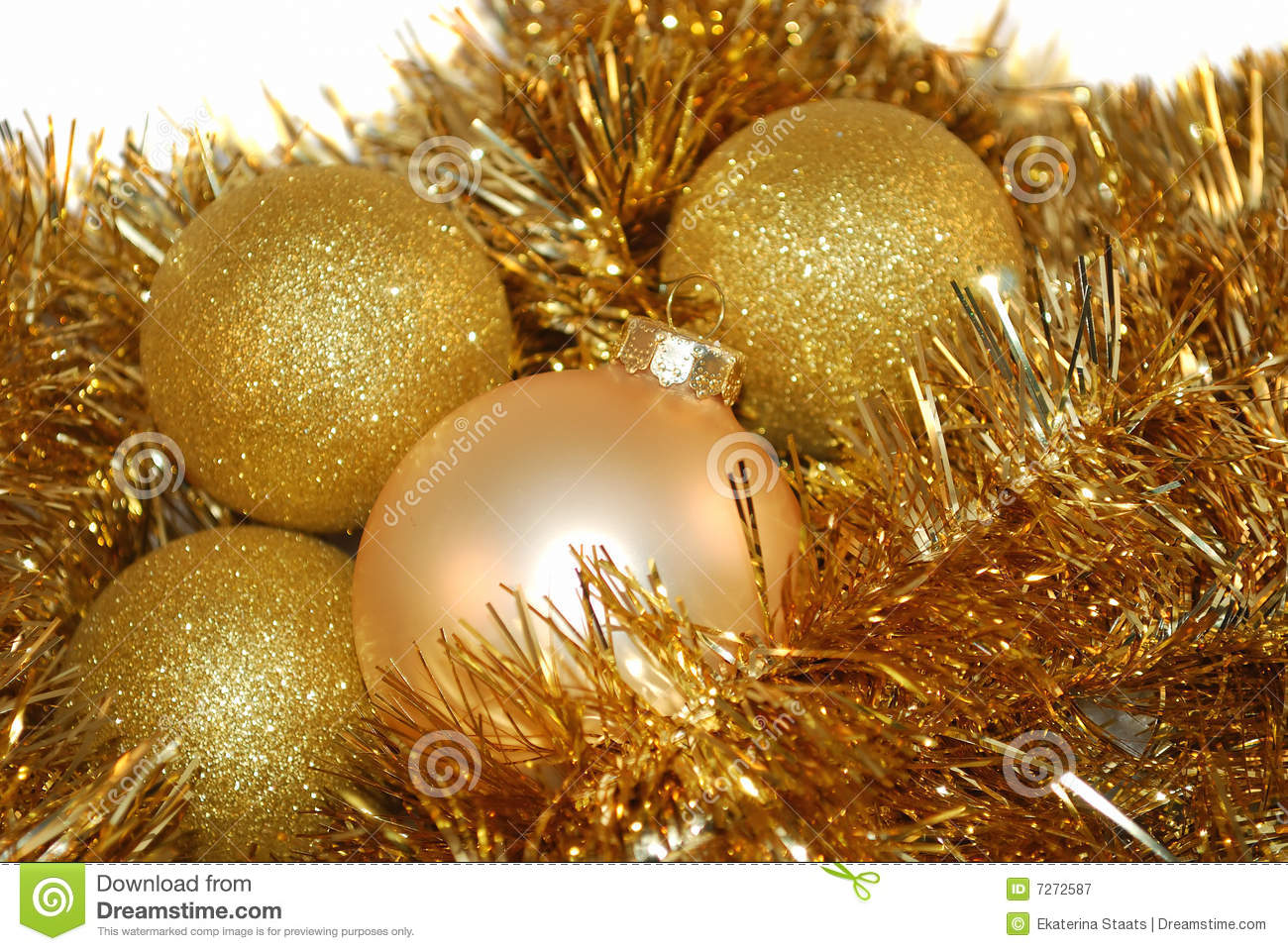 Gold christmas ornament royalty free stock photography image