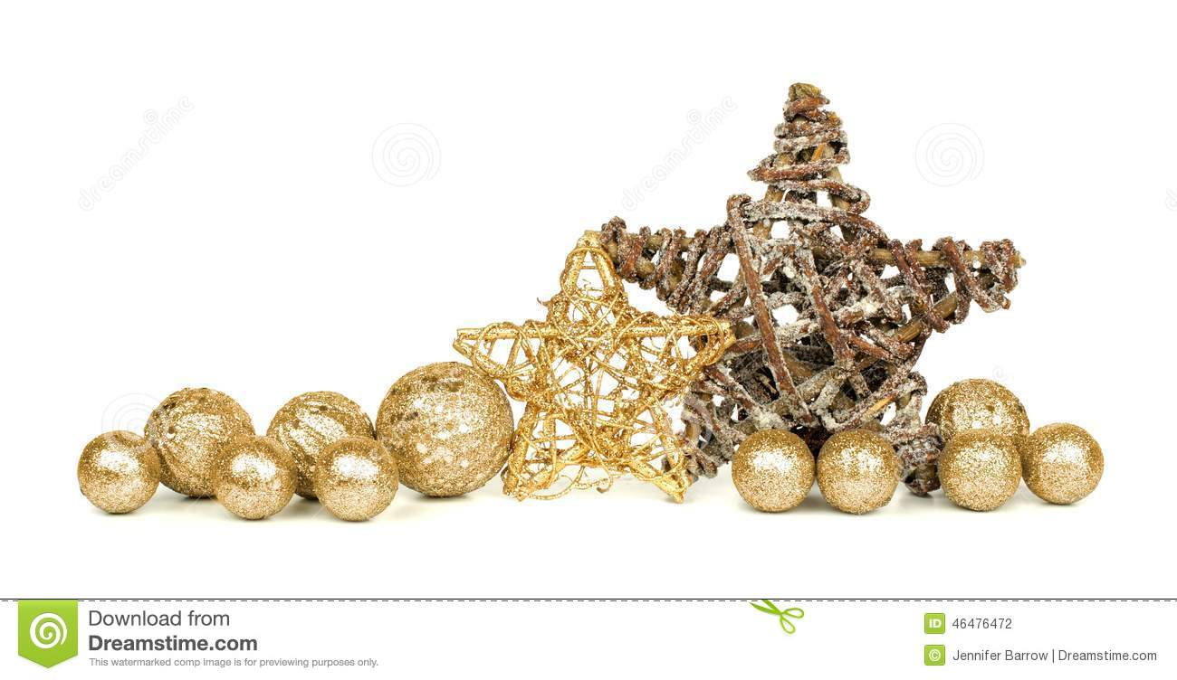 Gold Christmas Ornaments Png.Gold Christmas Ornament Border Stock Photo Image Of