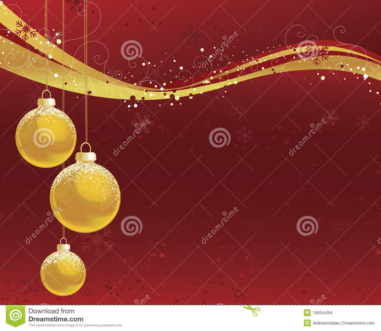 Red and gold christmas ornaments - Gold Christmas Ornaments On Red