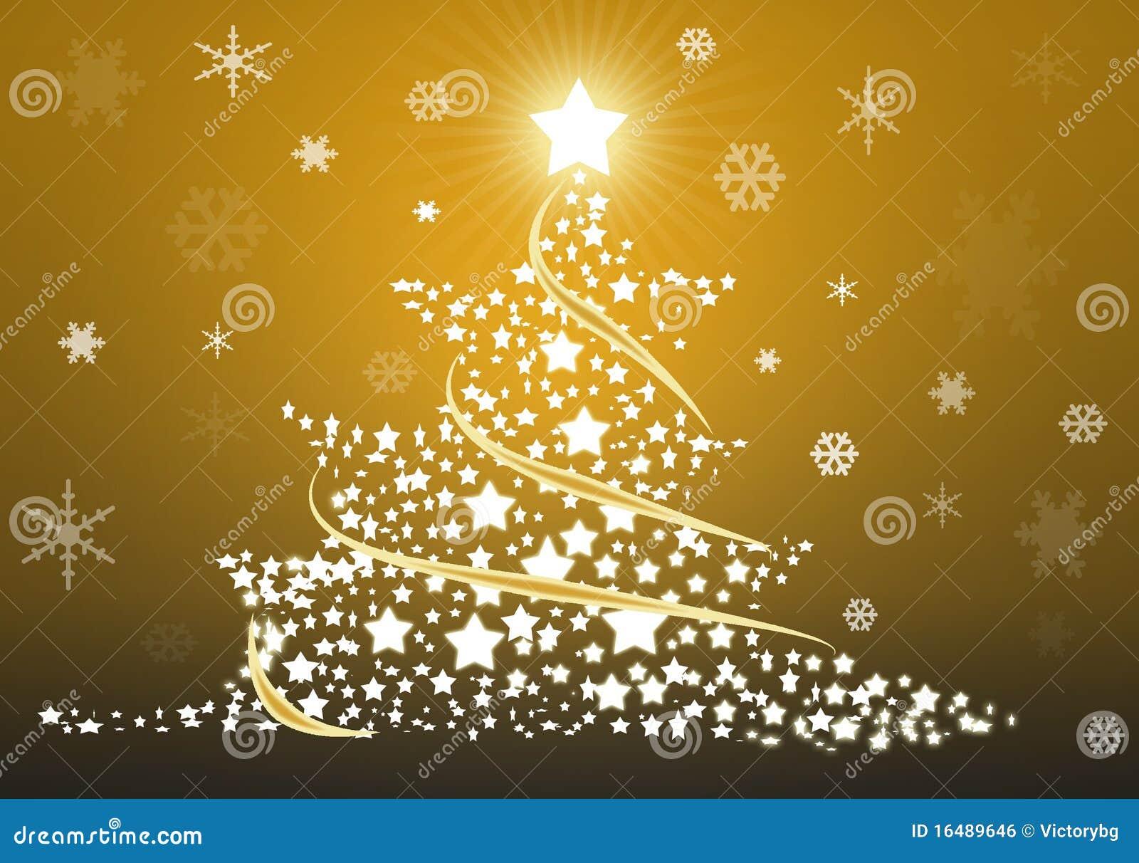 Gold Christmas Tree Background Stock Illustration Illustration Of