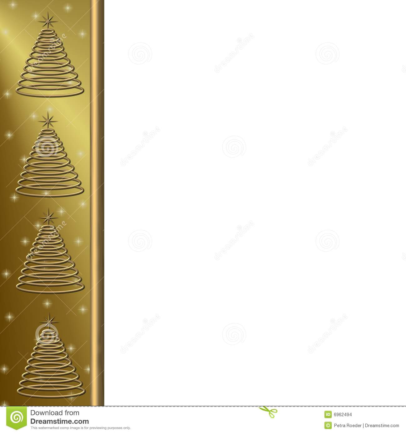 Gold Christmas Tree Border Stock Images - Image: 6962494
