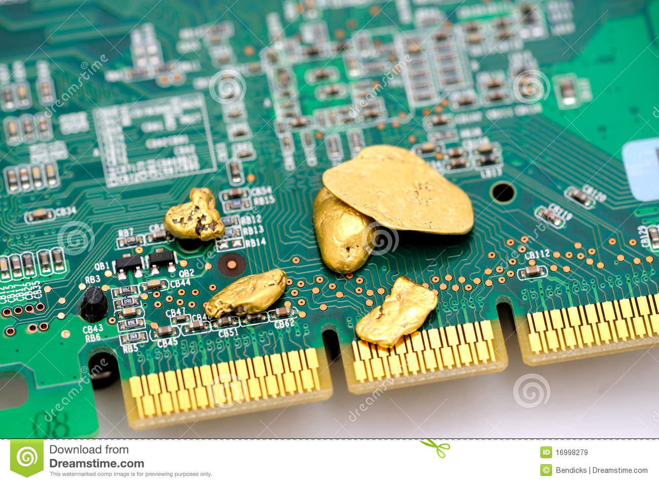 Gold In Circuit Boards Raw Board Excellent Electrical Wiring Diagram House And Circuitry Stock Image Of Valuable 16998279 Rh Dreamstime Com Complex Design