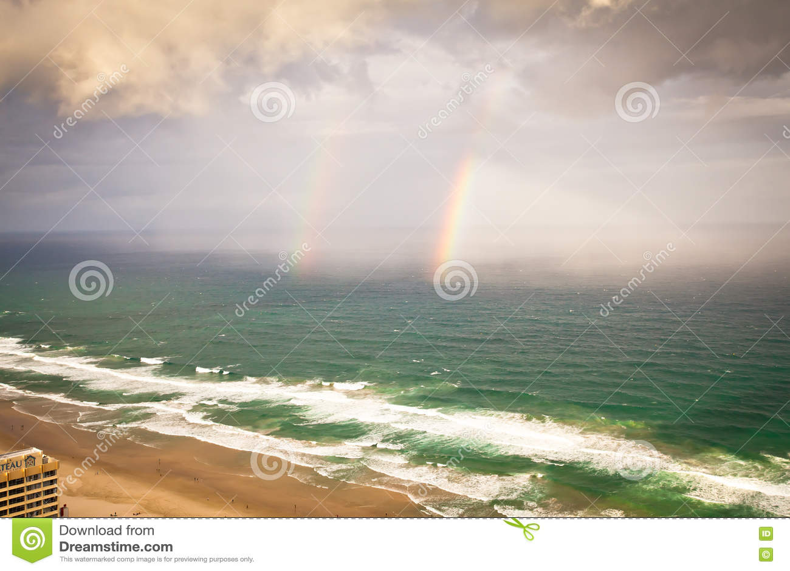 Gold Coast Queensland Austrália - chuveiros e arco-íris