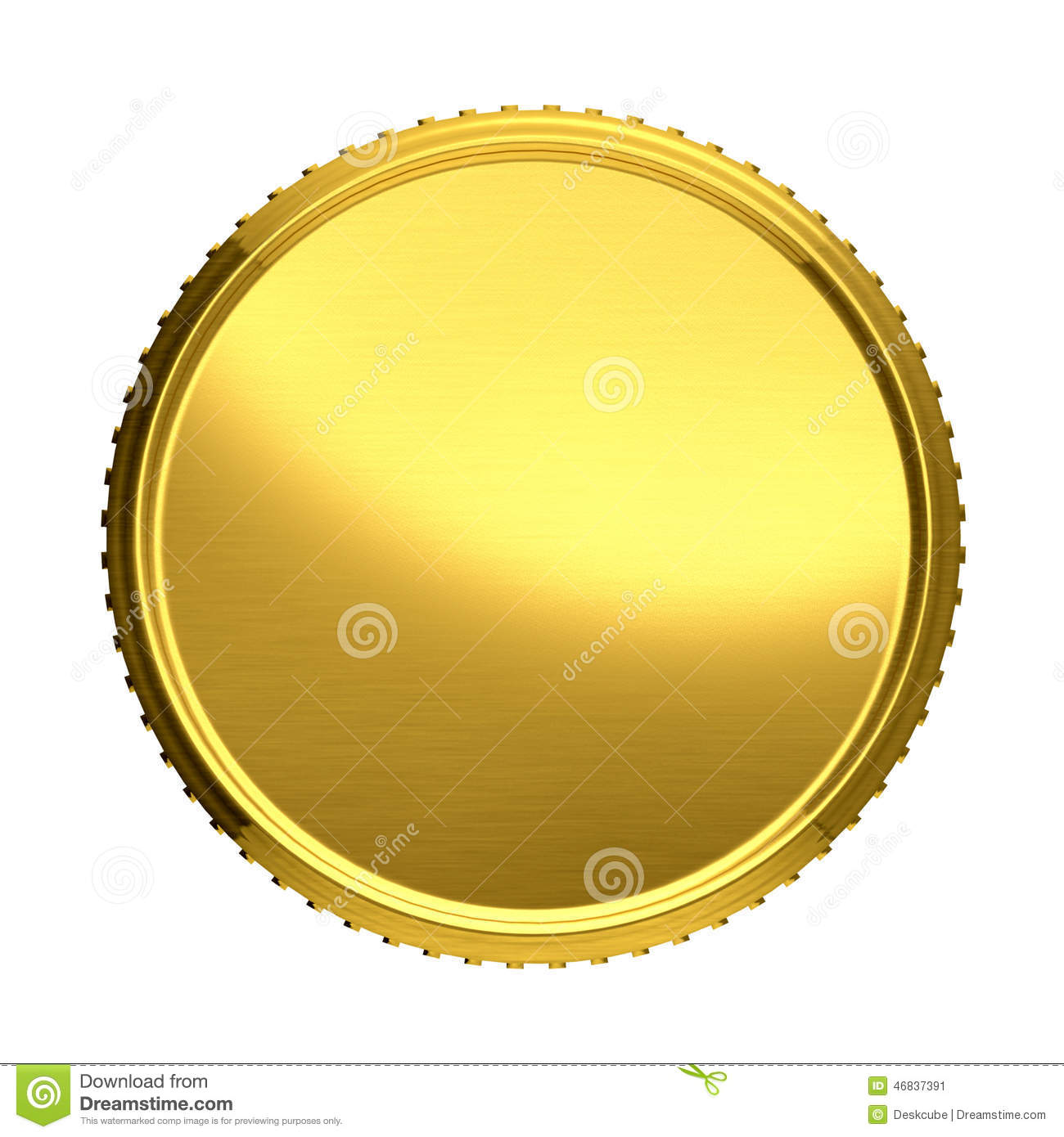 Gold coin. illustration isolated on white background.