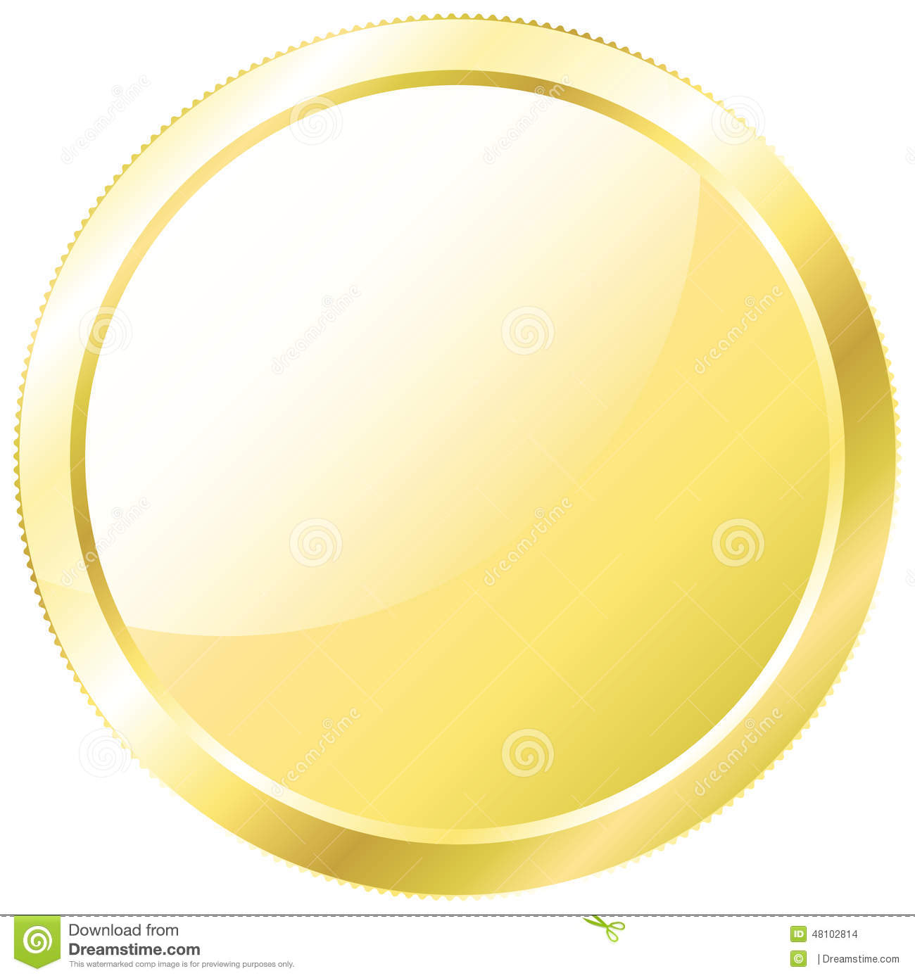 gold coin stock vector illustration of economy color 48102814