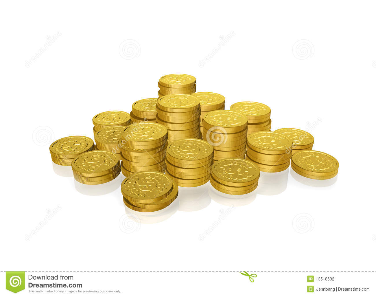 Gold Coins Stock Photography - Image: 13518692