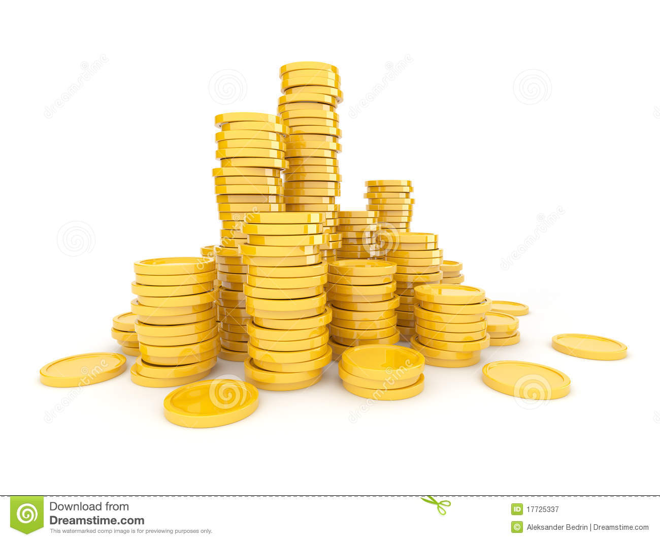 Gold Coins 3D Royalty Free Stock Photography Image 17725337