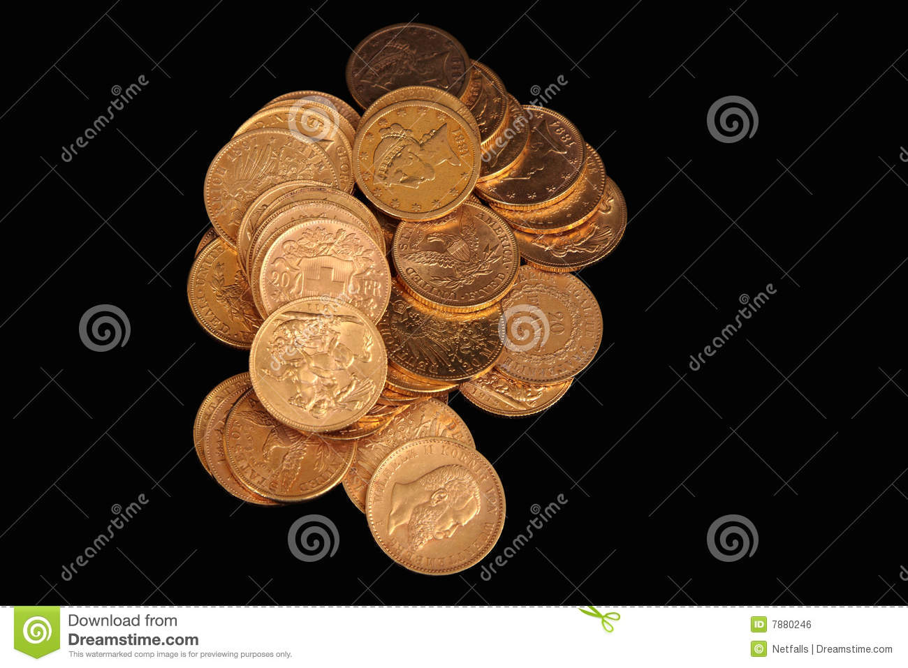 gold coins black background - photo #42