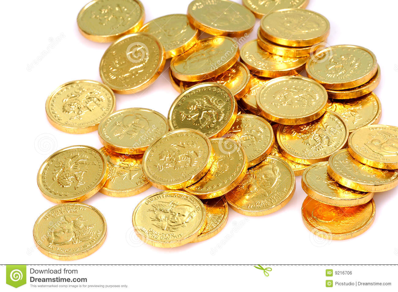 Gold Coins Royalty Free Stock Image Image 9216706