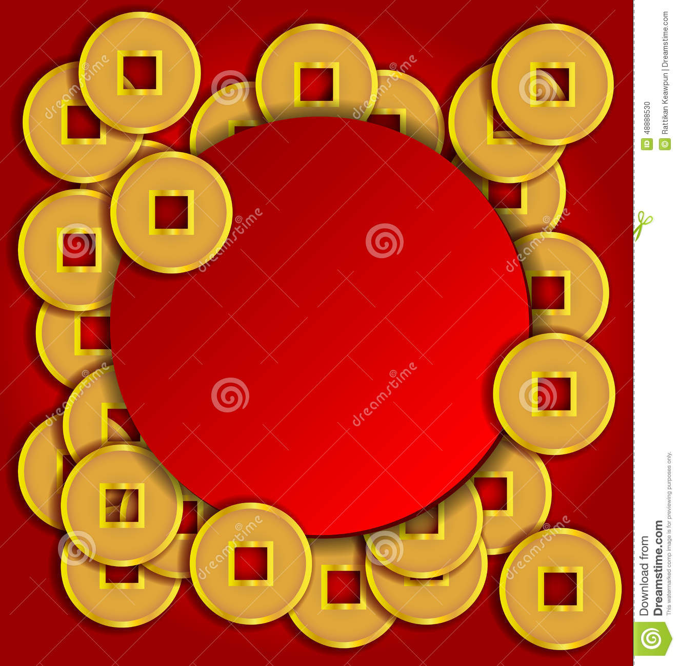 gold coins background for new year stock vector