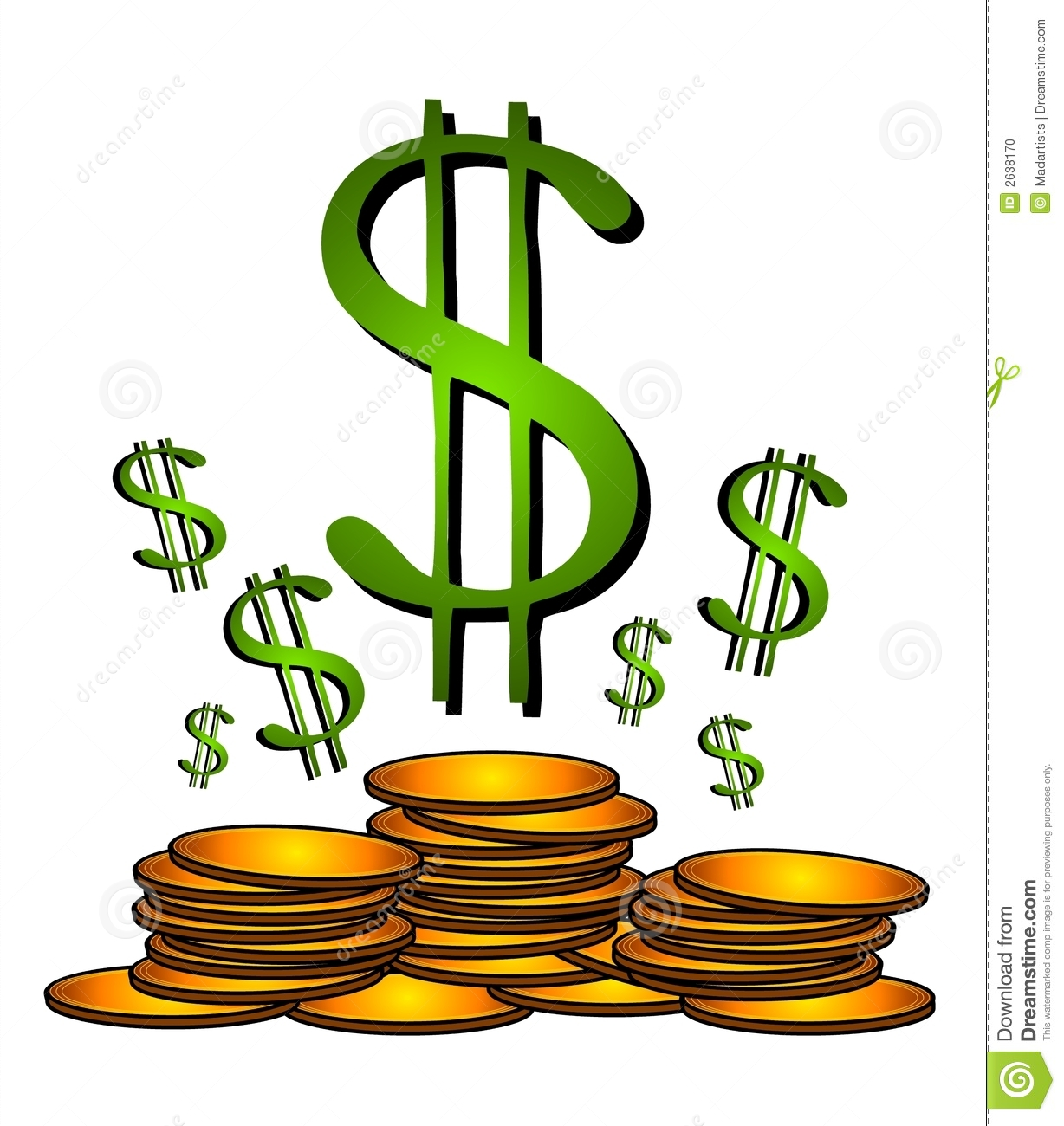 gold coins dollar sign clipart stock illustration illustration of rh dreamstime com Dollar Sign Symbol Dollar Sign Icon