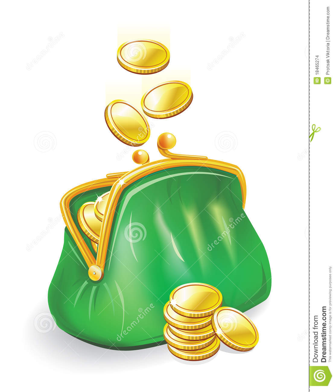 Gold Coins Fall Into A Purse Stock Images Image 18465274