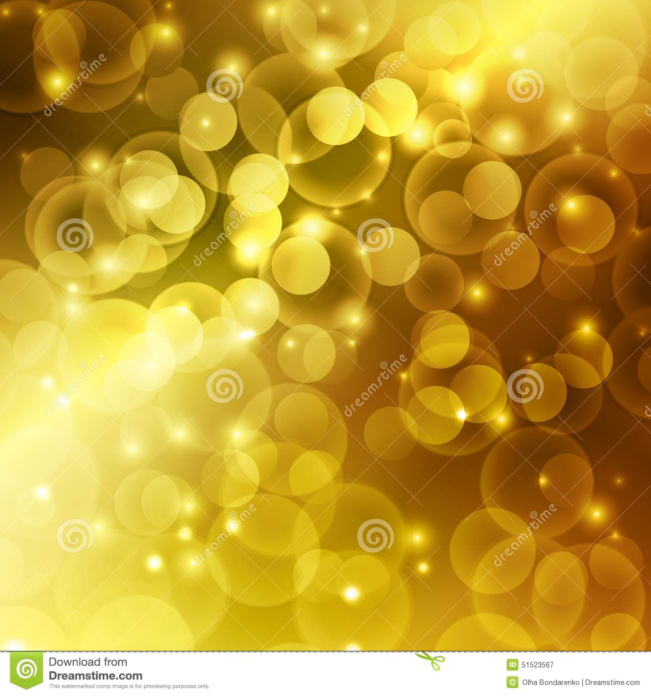 gold color bokeh abstract light background stock vector