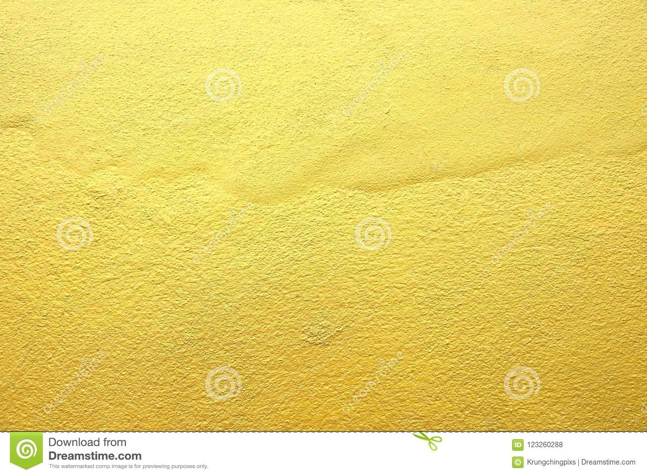 Gold Color Paint On Concrete Wall. Stock Photo - Image of color ...