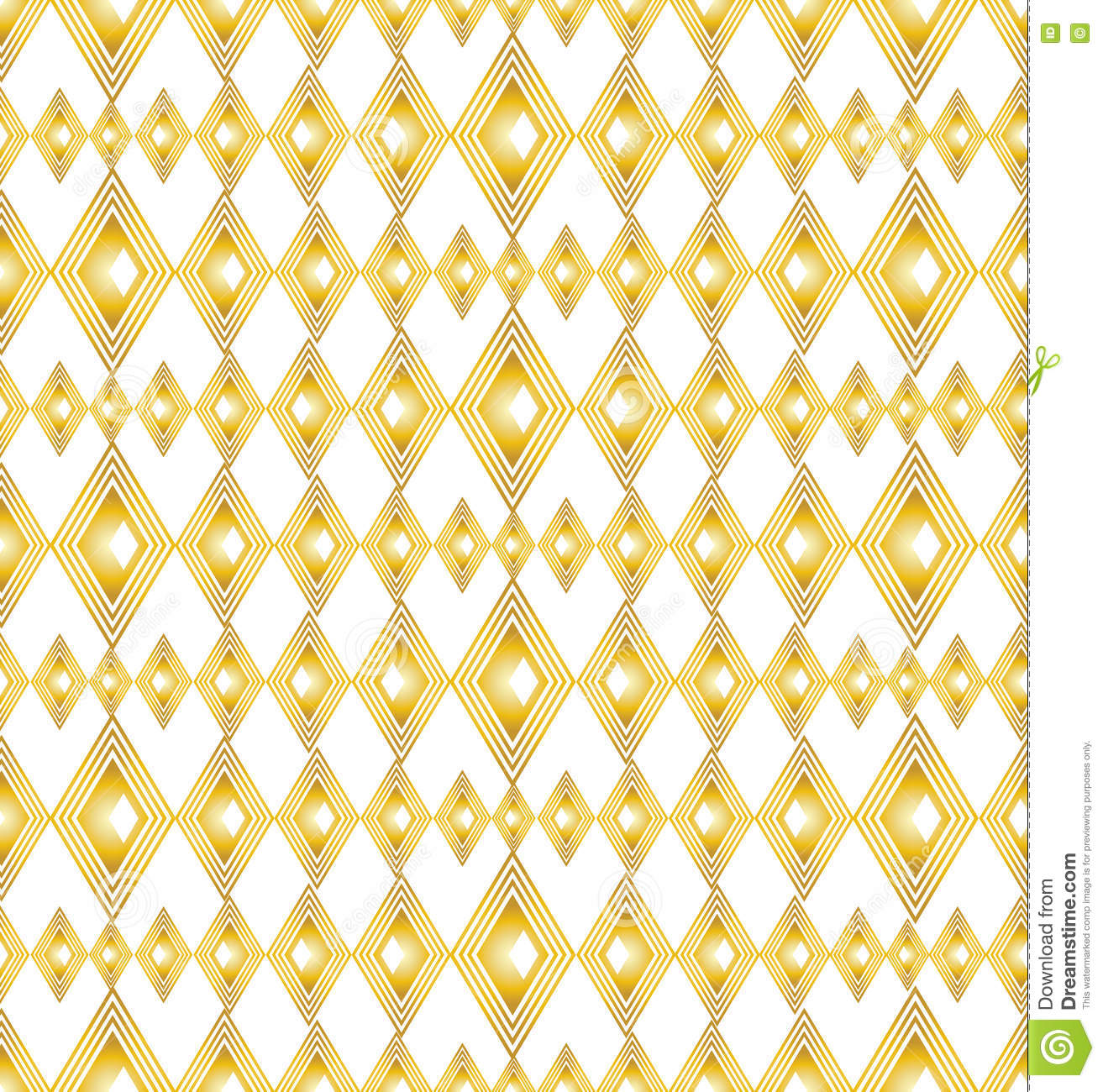 Modern Seamless Pattern In Gold Color Texture Art Deco Style For Print Home Decor Spring Summer Fashion Fabric Textile Website Background