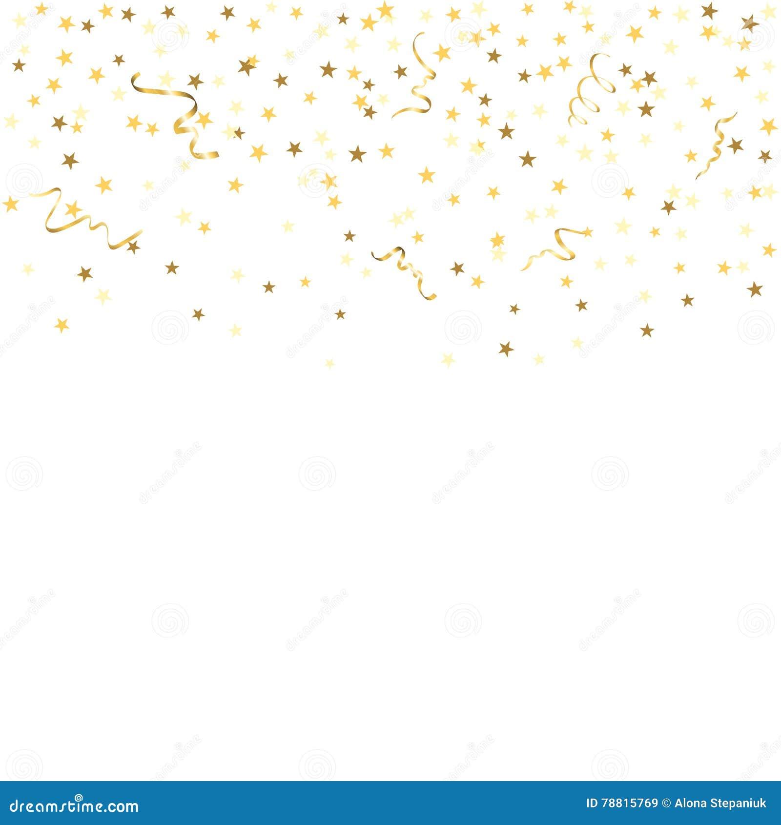 Confetti background vector golden confetti background - Royalty Free Illustration Download Gold Confetti Background