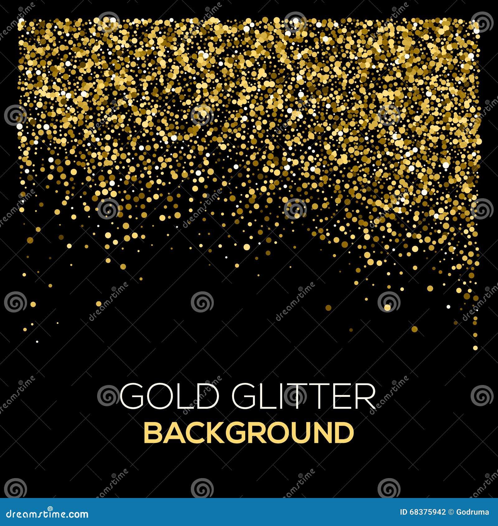 Confetti background vector golden confetti background - Royalty Free Vector Download Gold Confetti Glitter On Black Background
