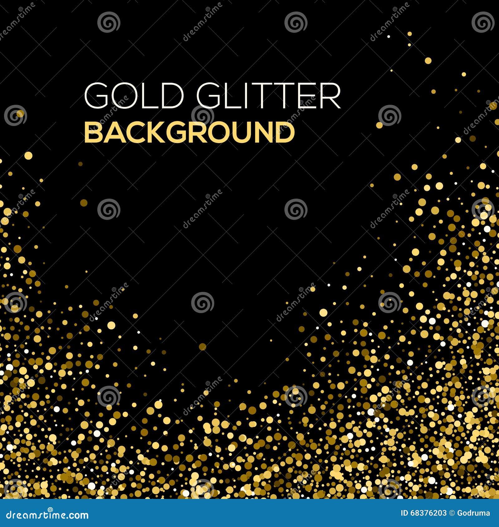 Confetti background vector golden confetti background - Royalty Free Vector Abstract Background Black Design Glitter Gold Golden Vector