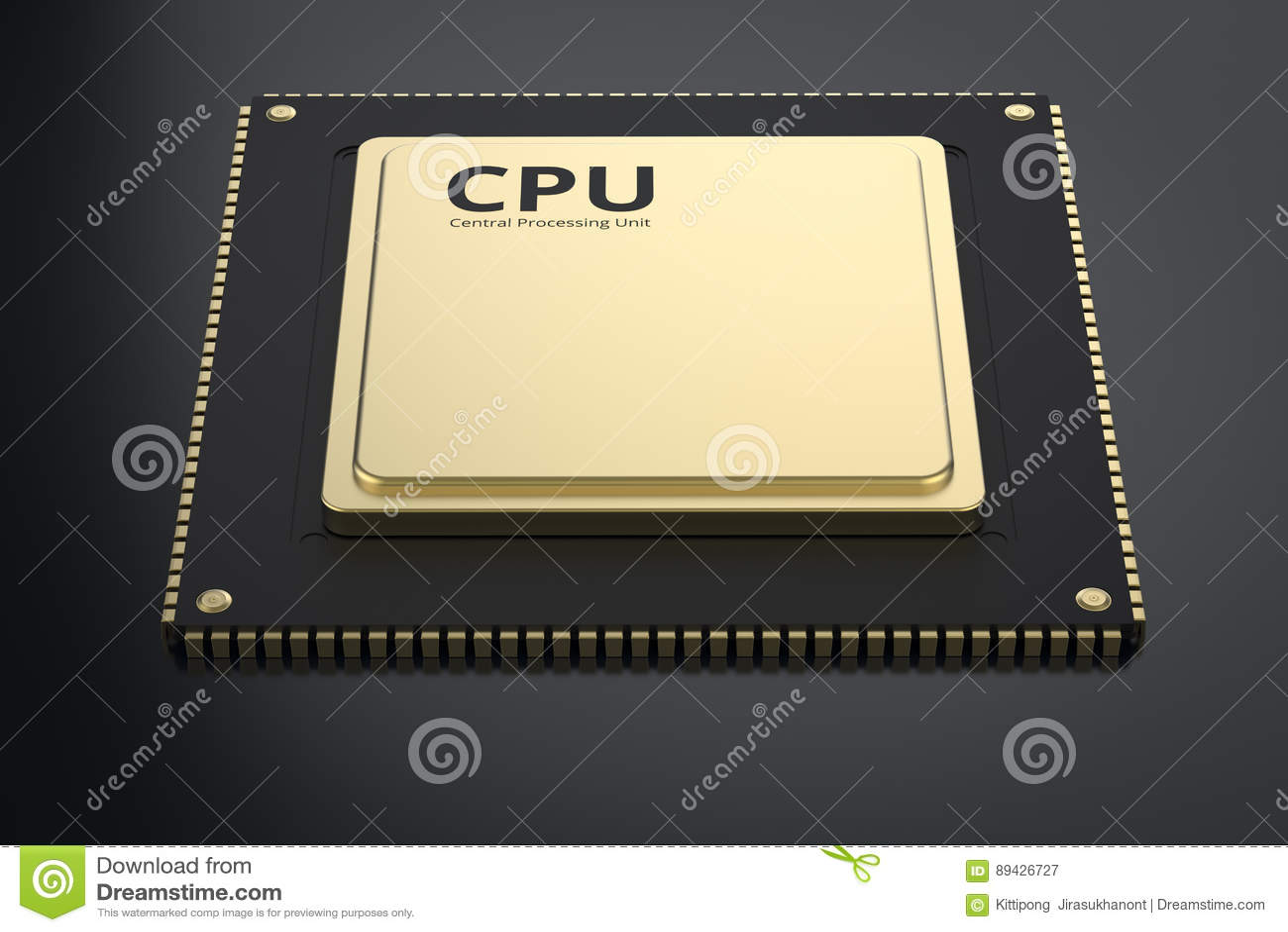 Gold cpu chip